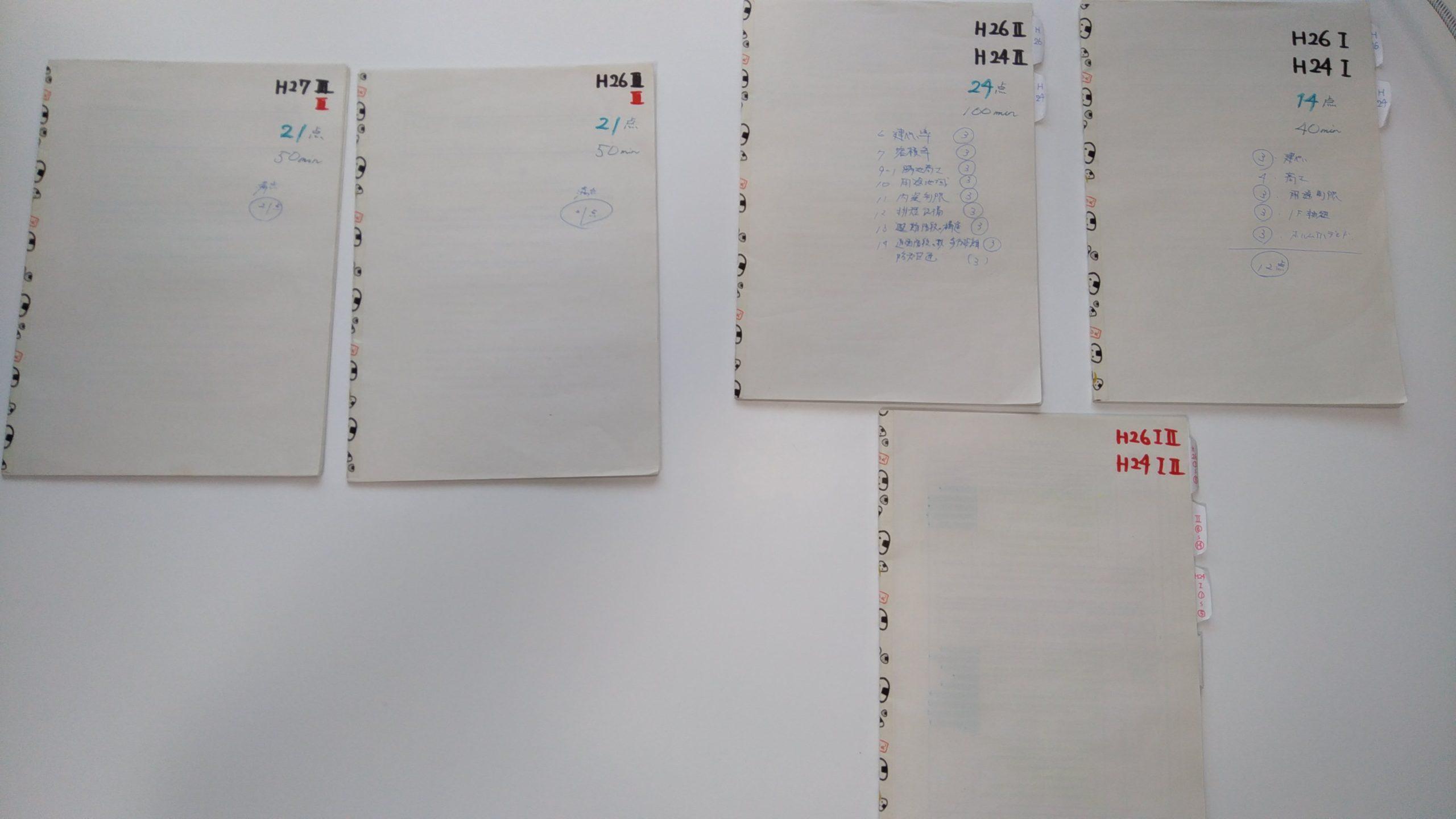 考査B自作ノート5冊(A5サイズ)